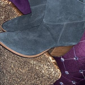 Matisse Forrest Green Distressed Ankle Bootie👓
